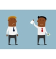 Businessman taking money from competitor vector image vector image