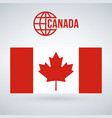 canada flag isolated on modern background with vector image vector image