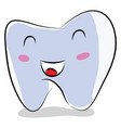 cartoon a smiling tooth on white background vector image