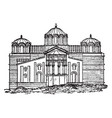 church of our lady byzantium istanbul vintage vector image vector image