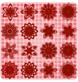 Collection of 16 flower sketches vector image vector image