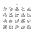 coworking thin line icons vector image vector image