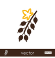 Currant outline icon Fruit vector image vector image
