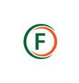 f company logo template design vector image vector image