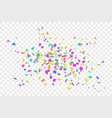 falling confetti isolated white transparent vector image vector image