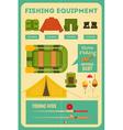 fishing equipment vector image vector image