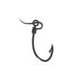 fishing hook with fishing line design template vector image vector image