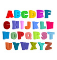 Font children Colorful alphabet Letters in child vector image vector image