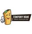 food wrap mascot vector image