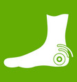 foot heel icon green vector image vector image