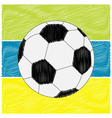 Football soccer ball strips Scribble effect Flat vector image vector image