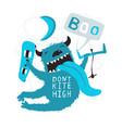 fun kitesurfing print monster jump design vector image