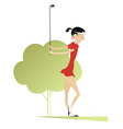 Good day for playing golf vector image