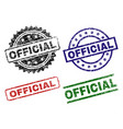 grunge textured official seal stamps vector image
