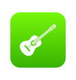guitar icon digital green vector image vector image