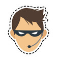 hacker man icon vector image vector image