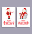 happy new year and merry xmas poster with santa vector image