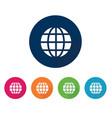 internet icon globe flat design vector image