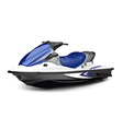 Jet boat vector image