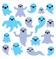 Kawaii cute ghost characters design - Halloween vector image vector image