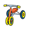 kid tricycle icon cartoon style vector image vector image
