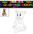 lemur coloring book vector image vector image