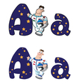 letter A astronaut vector image vector image
