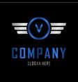 letter v automotive creative business logo vector image vector image