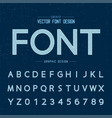 line dotted font and alphabet design typeface vector image