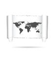 map of world on paper vector image vector image