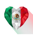 mexican heart flag of the mexico vector image