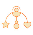 mobile flat icon baby hanging toy orange icons in vector image vector image