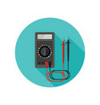 multimeter flat icon vector image vector image