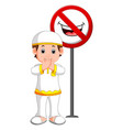 muslim kid closed mouth vector image vector image