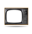 old vintage tv isolated on white background vector image vector image