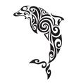Ornamental decorative dolphin vector image