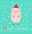 pig piglet cute cartoon funny bacharacter hog vector image vector image