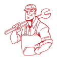 Plumber master resize vector image vector image