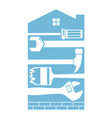 repair and construction a house vector image vector image