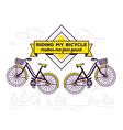 retro bicycle with basket and text riding vector image vector image