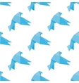 Seamless origami doves or pigeons pattern vector image