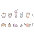 Set of Coffee shop objects vector image vector image
