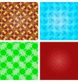 Set of crystal seamless pattern abstract texture vector image vector image