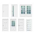 set of different white door vector image