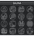 Set of Sauna Line Icon vector image