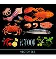 set seafood vector image