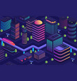 smart city in a futuristic style a city of the vector image