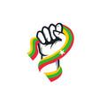 spirit rising hand myanmar flag series vector image vector image