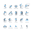 Sports games icons and logos set vector image