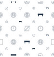 stop icons pattern seamless white background vector image vector image